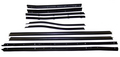 1971-1974 Cadillac Eldorado & Biarritz convertible window sweep set, belt line molding