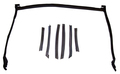 1995-2000 Cavalier & Sunfire convertible top header seal & side seals, 7pc set (free shipping in the US!!)