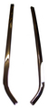 1966-1967 Buick Special, Skylark & Gran Sport (GS) chrome rear quarter window seal retainers, pair