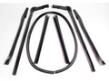 1965 GM 'C' body convertible roof rail weatherstrip with header bow seal