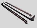1987-1993 Ford Mustang convertible door inner and outer window sweep set, 4pcs