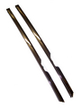 1968-1972 Chevrolet Chevelle & Chevelle SS chrome rear quarter window seal retainers, pair